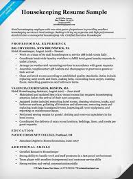 Resume Samples For Housekeeping Jobs 64 Images Housekeeper