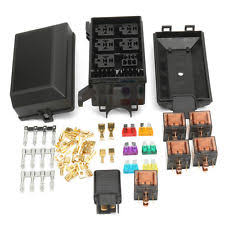 fuse relay box parts accessories car fuse box 6 relay socket holder 5 road insurance holder 5x12v 80a 1x12v 40a