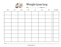 Free Printable Weight Loss Journal Template Zoro Braggs Co