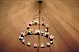 double tea light chandelier tent decoration