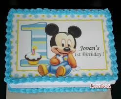Mickey Theme Birthday For Jovans 1st Birthday Jocakes