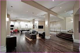 large recessed lighting. Large Basement With Recessed Lighting O