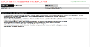 help desk analyst job description it help desk job description get home inteiror house design