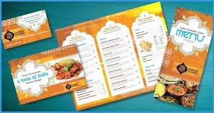 Indian Restaurant Menu Templates Free Download Good Indian
