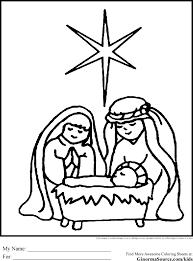 Christmas Nativity Scene Coloring Page At Seimado