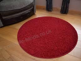 rugs supermarket runder plain red circular gy pile rug size 100cm diameter b00ijzcy34