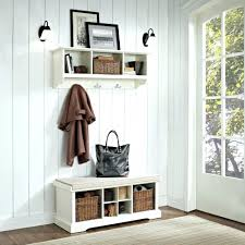 Kids Coat Rack With Storage Bench Storage Bench With Coat Rack Entry And Shelf Black Metal 75