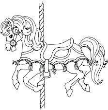 horse coloring pages printable horse coloring pages printable packed with horses coloring pages printable also carousel