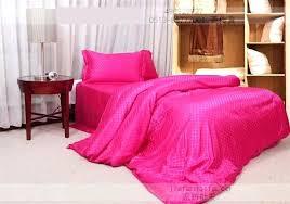 hot pink bed sets hot pink silk bedding set plaid satin sheets super king size queen hot pink bed sets