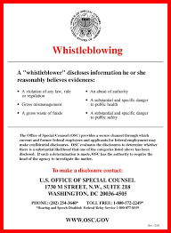 Whistleblower Protection In The United States Wikipedia