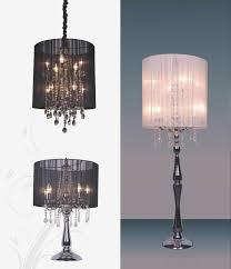 floor lamps chandelier floor lamp chandlier glam crystal matt and