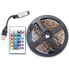 Lights To Put Behind Tv 0 5 1 2 3 4m Smd3528 Rgb Led Strip Light Non Waterproof Tv Back Lighting Lamp Usb Remote Dc5v