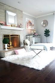 big white faux fur rug fake flooring rugs large sheepskin animal skin