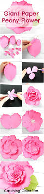 Peony Paper Flower Giant Paper Peony Templates Paper Flower Tutorial Paper