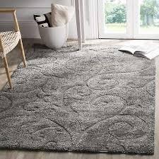 safavieh florida scrollwork elegance dark grey area rug 4 x 6