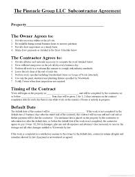 Sub Contractor Agreement Images - Agreement Letter Sample Format