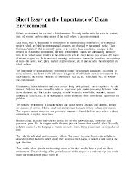 new microsoft office word document short essay on the importance of clean environment of late environment has received a lot cleanliness