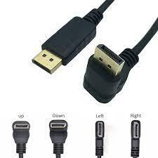 Displayport DP DP Kablosu 30cm Sağ Açı 90 Derece erkek Erkek Altın Kaplama  Ses ve Video uzatma Kablosu PC için, dizüstü bilgisayar|