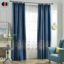 block out curtains classical cotton linen blinds mirror flowers embroidered curtain for living room wedding panels