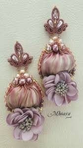 '<b>Dusty Rose</b>' Mhoara Jewels   Сутаж <b>украшения</b>, Сережки, Сутаж