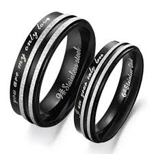 1Pc Unisex Stainless Steel You Are My <b>Only Love Couple</b> Wedding ...