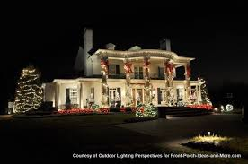 outdoor holiday lighting ideas. Beautiful Home Lit With Holiday Lights Outdoor Lighting Ideas F