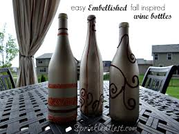 Decorative Wine Bottles Ideas DIY Fall Wine Bottle Decor Sprinkled Nest 37