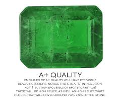 Emerald Quality Chart Worlds First Of A Kind