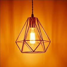 verity geometric pendant light rose gold modern industrial lamp