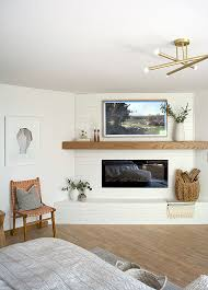mantel decorating with a tv brepurposed