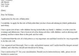 babysitting letter babysitter reference babysitting cover letter create my cover letter