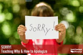 how to say sorry post