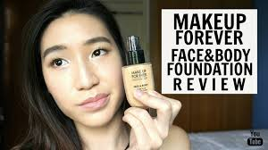 makeup forever face body old water blend foundation review carison trishhyoungg you