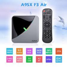 Light Smart Tv Android 9 0 Rgb Light Smart Tv Box Amlogic S905x3 Usb3 0 1080p H 265 4k 60fps Google Play Netflix Youtube A95x F3 Air 8k