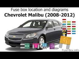fuse box location and diagrams 2010 Malibu Fuse Box Diagram 2010 Chevrolet Malibu Fuse