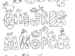 Animal Alphabet Coloring Pages Printable For Preschoolers Free