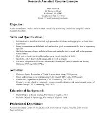 Research Assistant Resume Sample For Study Scientist Example