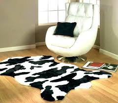 fake cowhide rug cow print faux rugs uk large c