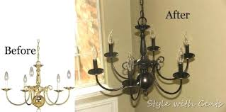 spray painting a chandelier oil rubbed bronze spray paint chandelier before after spray paint chandelier glass