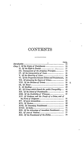 an essay on crimes and punishments online library of liberty original table of contents or first page