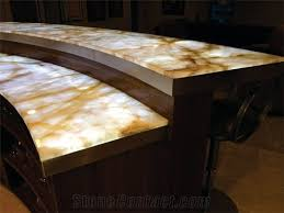 artificial honey onyx translucent backlit kitchen countertop islands top solid surface manmade engineered stone worktop transtones customized transtones