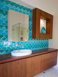 Luminous Bathroom Color Schemes With Small Silver Mirror Between Bathroom Colors Pictures