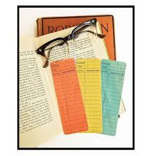 Library Card Wooden Bookmarks Set 3 Bas Bleu Up1272