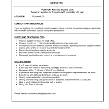 Accounting Job Responsibilities For Resume Accountantob Description Template Accounts Payable Sample Resume For 13