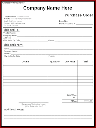 Free Purchase Order Template Excel Purchase Requisition Template