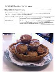 Food Design And Technology Design Project Muffins At The Australian Curriculum