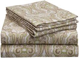 com pointehaven heavy weight printed flannel sheet set com pointehaven heavy weight printed flannel sheet set queen paisley home kitchen