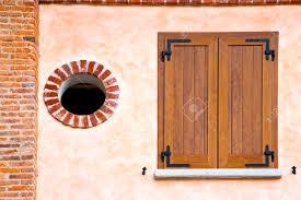 Italien Abstrakte Quer Alte Fenster Auslöser Jalousie Albizzate