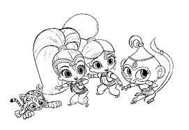 Shimmer And Shine Coloring Pages To Print Shimmer And Shine Coloring
