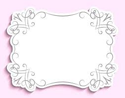 Paper Frames Templates Paper Frame Template Musacreative Co